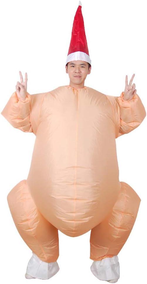 Disfraz De Pavo Asado Inflable Pollo De Halloween para Adultos ...
