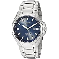 Citizen Eco-Drive Men's Titanium Blue Dial Watch (BM7170-53L)