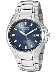 Citizen Mens Eco-Drive Titanium Watch with Date, BM7170-53L