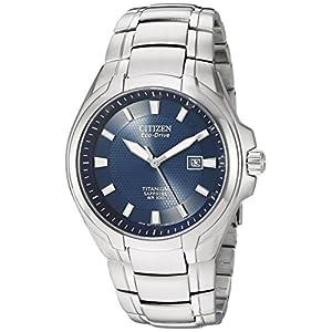 Citizen Men's Eco-Drive Titanium Watch with Date, BM7170-53L