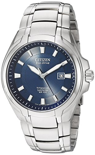 Citizen Men's Eco-Drive Titanium Watch with Date, BM7170-53L ()