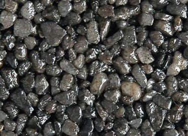 Colored Quartz Gravel Pebbles  Dark Gray, 3 lbs