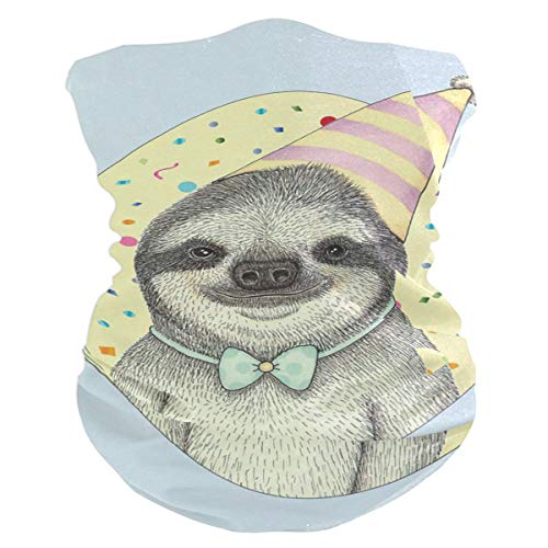 Party Sloth Balaclava Womens Headband Scarf Mens Versatile Bandana, Muffler, Neck Gaiter, Magic, Headwrap Helmet Liner ()