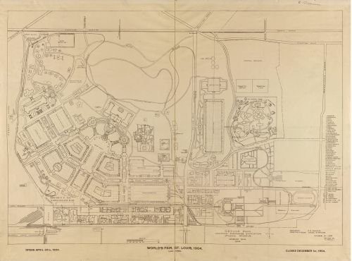 (1904 Map World's fair, St. Louis, 1904: ground plan Louisiana Purchase Exposition, St. Louis, Missou)