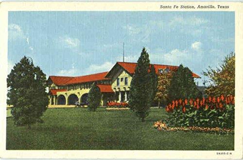 Santa Fe Station Amarillo, Texas Original Vintage Postcard ()