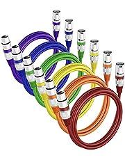GearIT Cable de extensión de micrófono XLR macho a hembra (15 pies, 6 unidades), multicolor