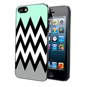 Mint Green Black White & Grey Chevron Pattern iPhone 4 4s Back Case