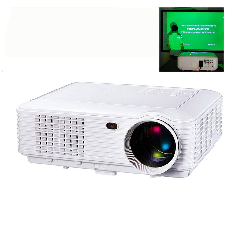 LiChenYao SV-226 Projector Home Entertainment Game KTV 3D Projector (Color : White)