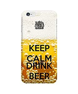 DaojieTM Generic Iphone 6 Plus 5.5inch Case - The Best 3d Full Wrap Iphone Case -Keep Calm and Drink Beer