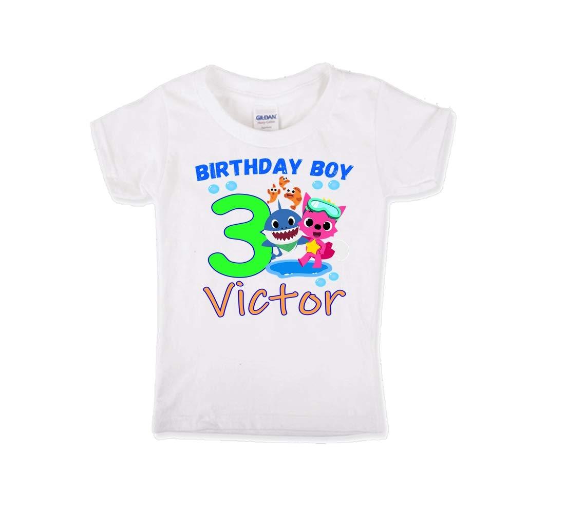 Baby Shark Birthday Shirt Birthday Baby Shark Shirt First Etsy In 2020 Shark Birthday Baby Shark Shark Themed Birthday Party