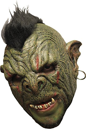 Ghoulish Men's Horror Chinless ORC Monster Latex Mask Halloween Costume -