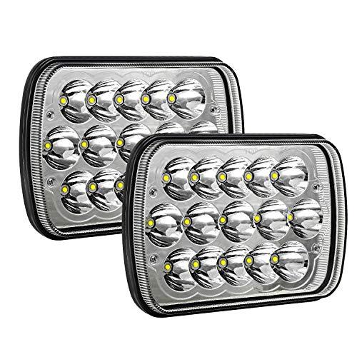 - AAIWA H6054 Led Headlights 7x6 5x7 45W Headlamp 2PCS Hi/Low Sealed Beam Rectangle Headlight Replacement for Jeep Wrangler YJ Cherokee XJ Trucks 4X4 Offroad 6054 H5054 H6054LL 69822 6052