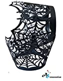 A&S Creavention Special Event Designed Pattern Cupcake Cups Holders 50pcs (Spider Net Black)