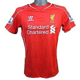 Warrior Maillot Domicile Liverpool 2014/2015 Gerrard avec Badge Pro