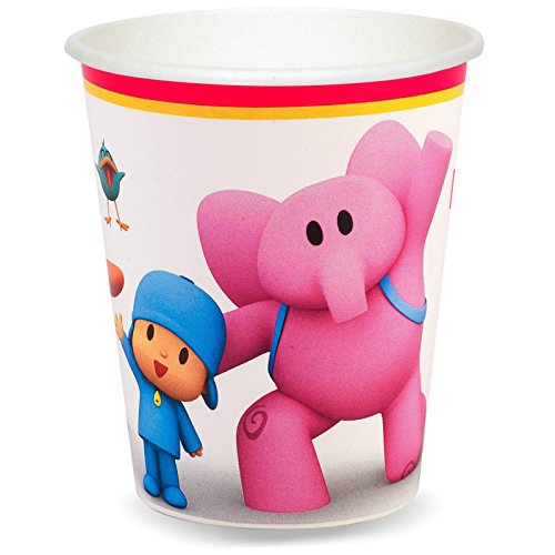 BirthdayExpress Pocoyo Party Supplies 9 oz. Paper Cups for 8