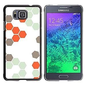 For Samsung GALAXY ALPHA G850 Case , Hive Orange White Hexagon Pattern - Diseño Patrón Teléfono Caso Cubierta Case Bumper Duro Protección Case Cover Funda
