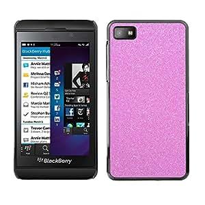 Estuche Cubierta Shell Smartphone estuche protector duro para el teléfono móvil Caso Blackberry Z10 / CECELL Phone case / / pink glitter sparkling plastic diamond /