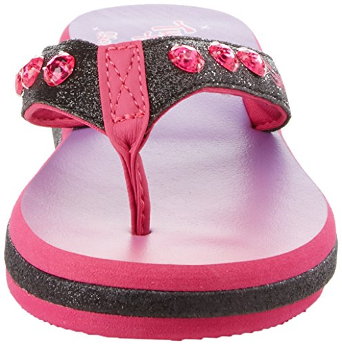 Skechers Sunshines black Pink beach Negro Chanclas hot Chic Para Niñas rrAvq7