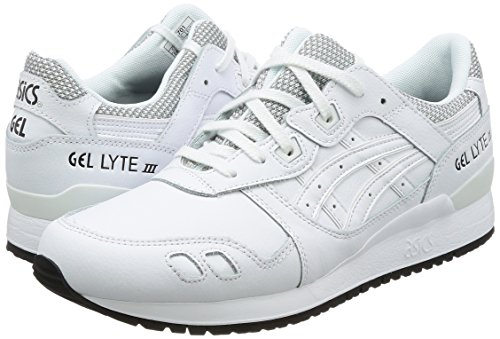 Adulto White Zapatillas Blanco White Asics Lyte Unisex Gel III SXXaq