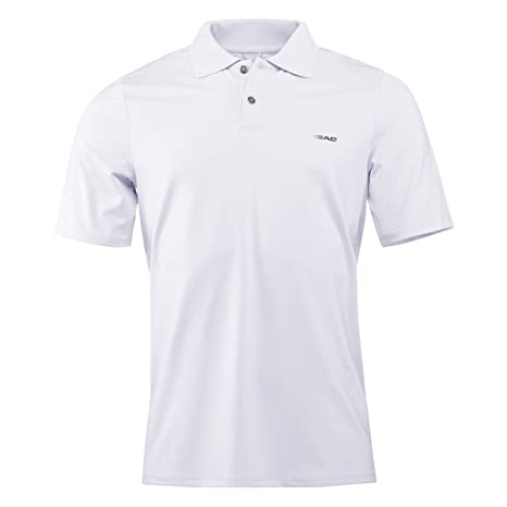 Head Performance PSMIN Hombre Tenis Polo, weiß, large: Amazon.es ...