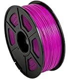 CC DIY PLA 3D Printer Filament Dimensional Accuracy +/- 0.02 mm 1kg Spool 1.75 mm Suits Most 3D Printers Tevo Tarantuala CR10 Mendel Prusa and More, Also Suitable for Most 3D pens (Fuchsia)