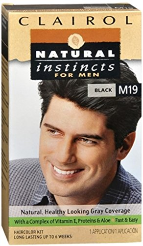 Natural Instincts For Men Haircolor M19 Black 1 Each (Pack of 9) by Clairol (Image #1)