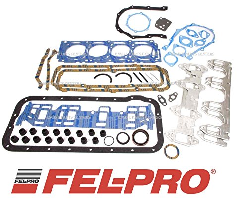 Fel Pro Gasket Set compatible with Ford 390 360 332 352 406 427 428 Complete Full Overhaul Kit (FE Gaskets) (Best Small Block Ford Engine)