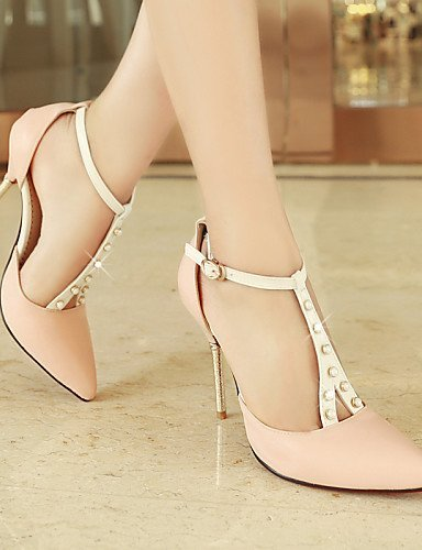 ShangYi Womens Shoes Heel Heels / Pointed Toe Sandals / Heels Party & Evening / Dress / Casual Blue / Pink / Red / White/918-2 White