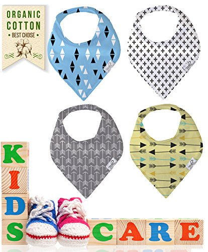 bee-zoo-bandana-bibs-for-boys-set-of-4-cotton-baby-bibs-modern-designs-super-absorbent-soft-and-styl