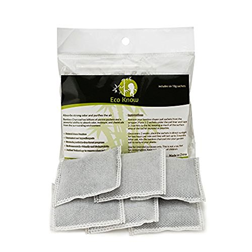 Natural Bamboo Charcoal Diaper Pail Deodorizers - Package of 6 Total