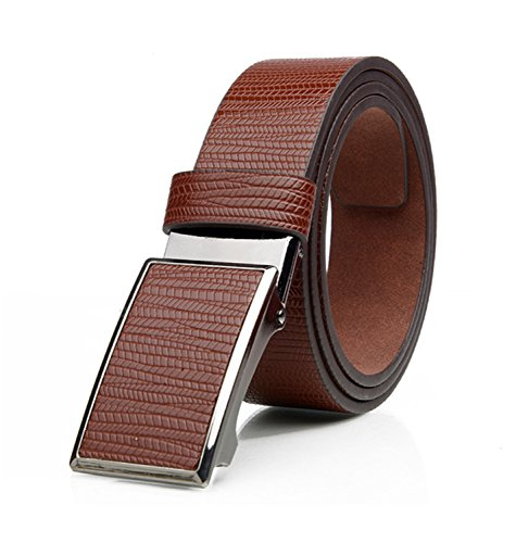 Eric Hug?Fashion?NEW top quality 100%cow genuine fashion leather men belts for men automatic buckle strap cinto masculino Champagne 120cm -