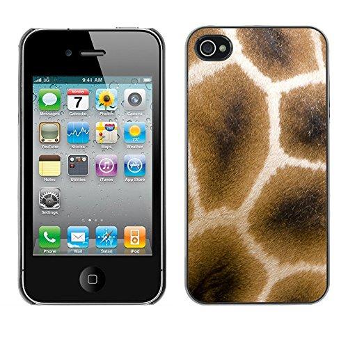 Premio Sottile Slim Cassa Custodia Case Cover Shell // V00002440 Giraffe fourrure // Apple iPhone 4 4S 4G