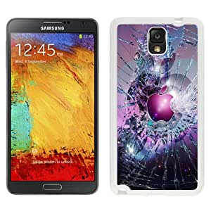 Fashionable And Unique Designed Cover Case For Samsung Galaxy Note 3 N900A N900V N900P N900T With Apple Logo Broken Glass_White Phone Case
