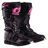 O'Neal Womens New Logo Rider Boot (Black/Pink, Size 6)