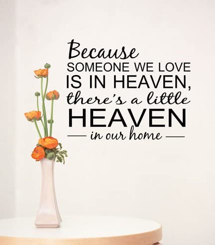 com heaven quote wall decal home quote decals family