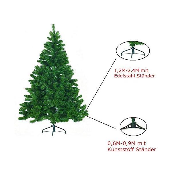 Mctech, albero di Natale artificiale, colore: verde, PVC, 180 cm 6 spesavip