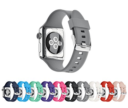 Pantheon Compatible Apple Watch Band 38mm 40mm Series 4 3 2 1 Silicone Sport Band Waterproof Compatible iWatch Bands for Men and Women