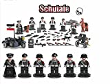 WW2 SS German Army , Panzer Division Guard, Soldiers, Guns , Weapons,a guard doge, Machine -Gun and motorcycle set of 6 Minifugurs - Military Building Block Toy