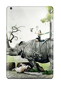 For Ipad Mini/mini 2 Protector Case Girl On A Rhino Phone Cover