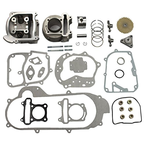 - GOOFIT Big Bore Cylinder Rebuild Kit for GY6 50cc 139QMB Racing Scooter Parts 64mm Valve