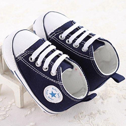 De 12 18 Azul Deporte Zapato 3 Auxma 12 6 Para La 6 Del Lona Zapatos M Zapatilla Antideslizante Bebé wYUXaxqZ