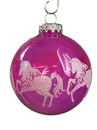 New Glass Pink Unicorn Bulb Legend Myth Magical Mythical Christmas Tree Ornament