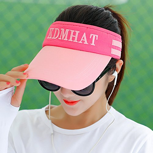GAOQIANGFENG Ms. Sun Visor Hat summer travel all-match face UV folding sun helmet visor,Magic plaster,Sky blue (air supply rope) - Air Carter Cap