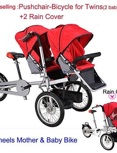 FYQ&todo el conjunto de paseo-bicicletas para los gemelos 2 lluvia cubierta ruituo ™ cochecito
