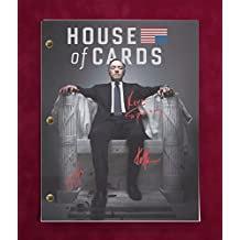 "HOUSE OF CARDS TV SCRIPT W/ REPRODUCTION SIGNATURES SPACEY, GILL, & WRIGHT ""C3"""