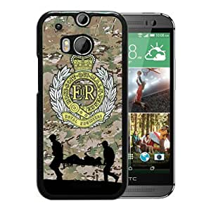 Fashion HTC ONE M8 Case,Royal Engineers Black HTC ONE M8 Screen Phone Case Graceful and Beautiful Design