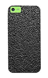Hard Plastic Iphone 5c Case Back Cover, Hot Textures Asphalt Gravel Highway Case For Christmas's Perfect Gift