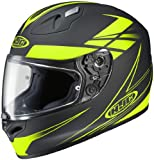HJC Force Men's FG-17 Street Motorcycle Helmet - MC-3F Hi-Viz Yellow / X-Large