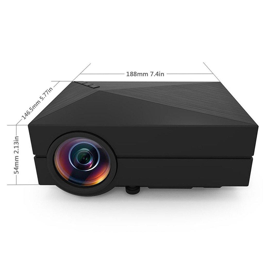 DoLotu GM60 Multimedia Mini LED Projector 100 Lumen 800*480 Private Cinema support HDMI VGA AV USB port