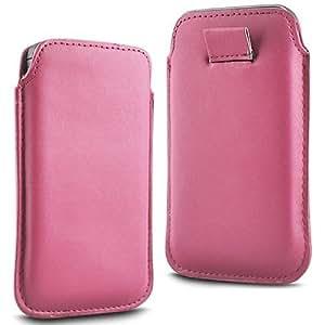 N4U Online - Vodafone Smart 4 Mini Prima Soft PU Funda de cuero Flip Case ficha de extracción - Baby Pink
